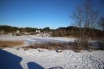 река Россонь зимой